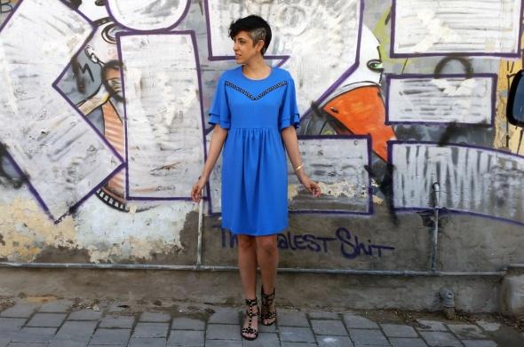 שמלת אנג'ל כחול