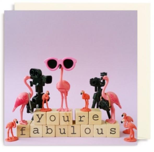 כרטיס ברכה פלמינגו You are Fabulous