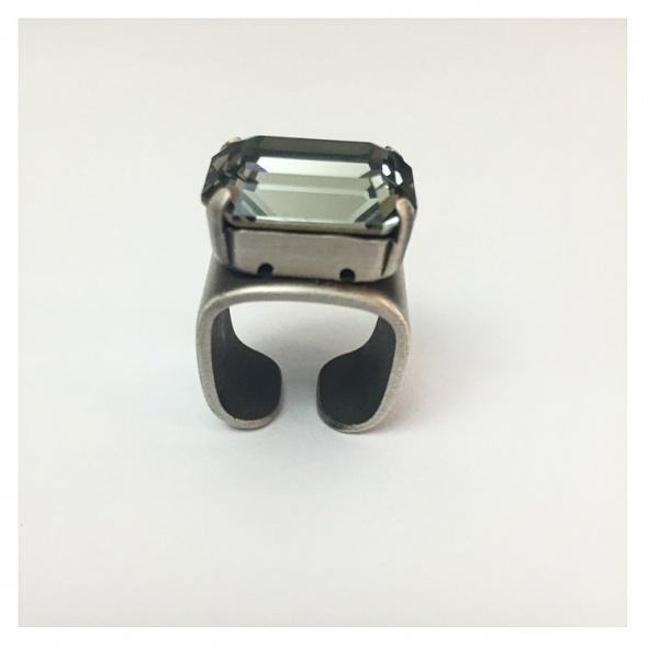 טבעת מישל כסף - אפור