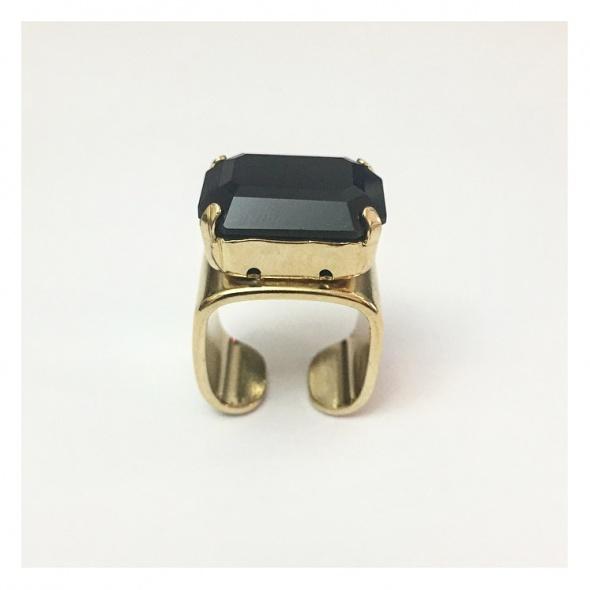 טבעת מישל זהב - שחור