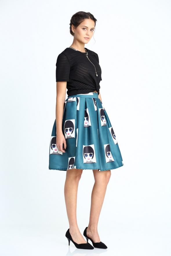 חצאית בלון הדפס פופ ארט
