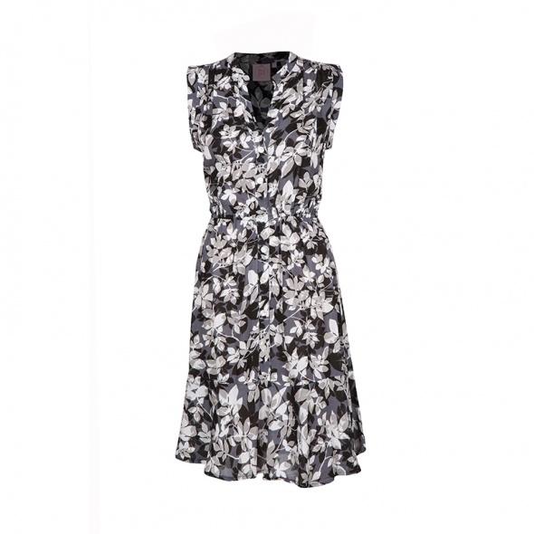 שמלת גלים שחור לבן
