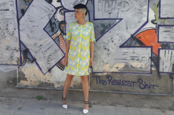 שמלת רוקנרול לימונים