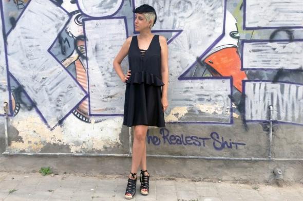 שמלת פריסיליה שחור