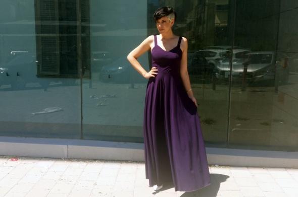 שמלת יהלום סגול