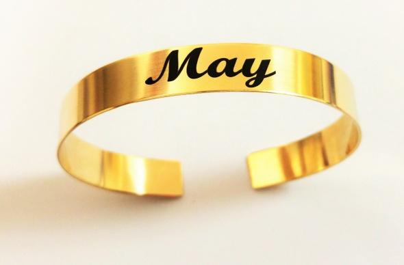 צמיד גולדפילד קשיח עם הטבעת שם בשחור