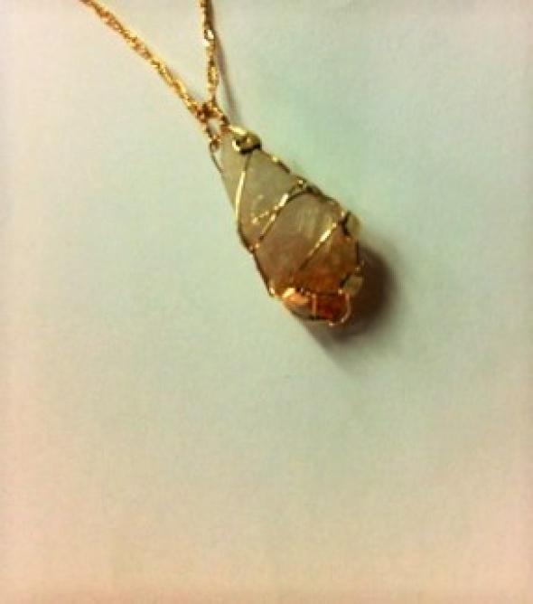 שרשרת גולדפילד עם אבן סיטרין טבעית