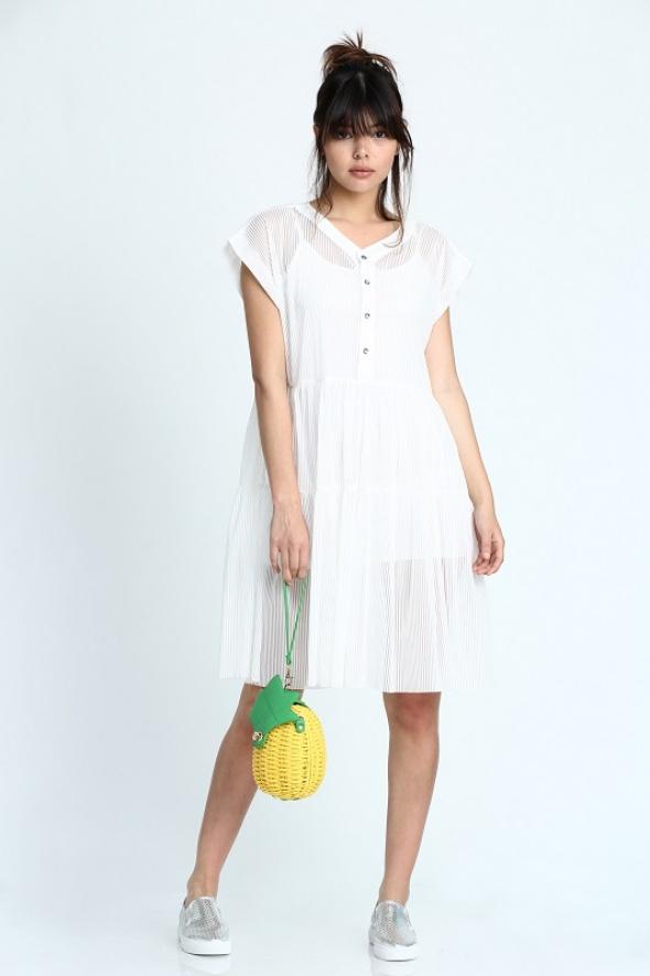 שמלת אוברסייז שיפון וינטג' + קומבניזון