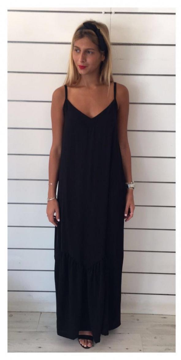 שמלת מקסי פפלום שחור