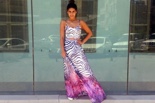 שמלת אוקיינוס - מנומר סגול