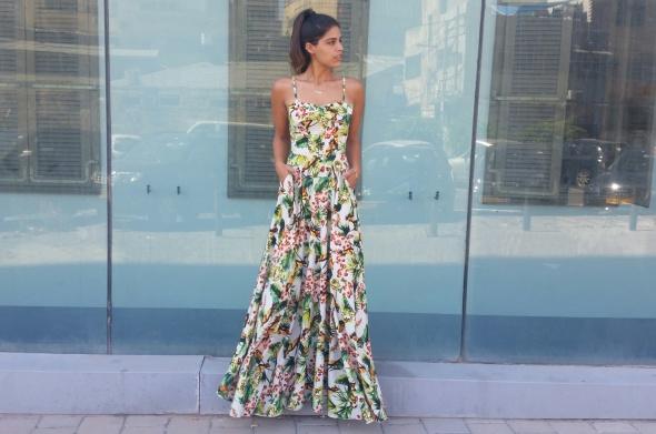 שמלת זריחה מקסי טרופי