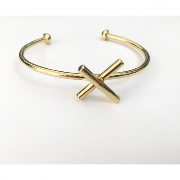 צמיד X זהב