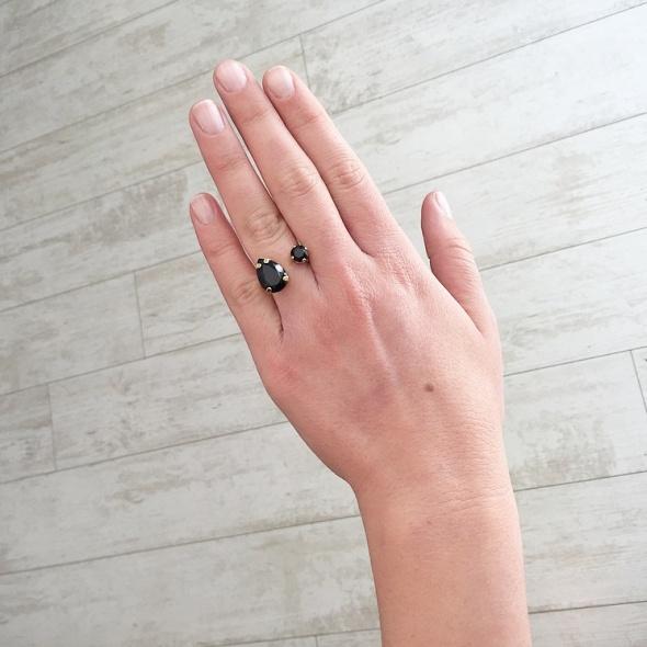 טבעת קייט זהב - שחור