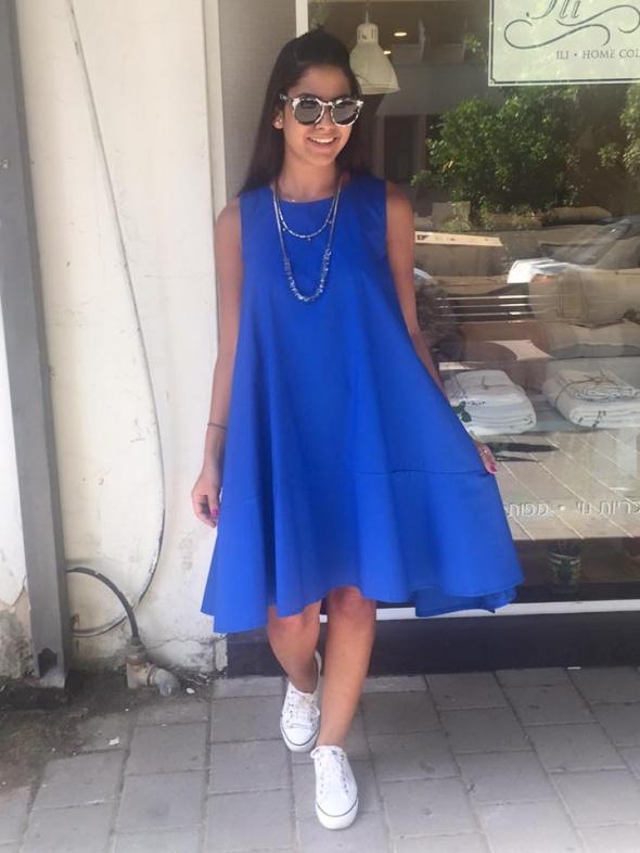 שמלת A מידי כחול רויאל