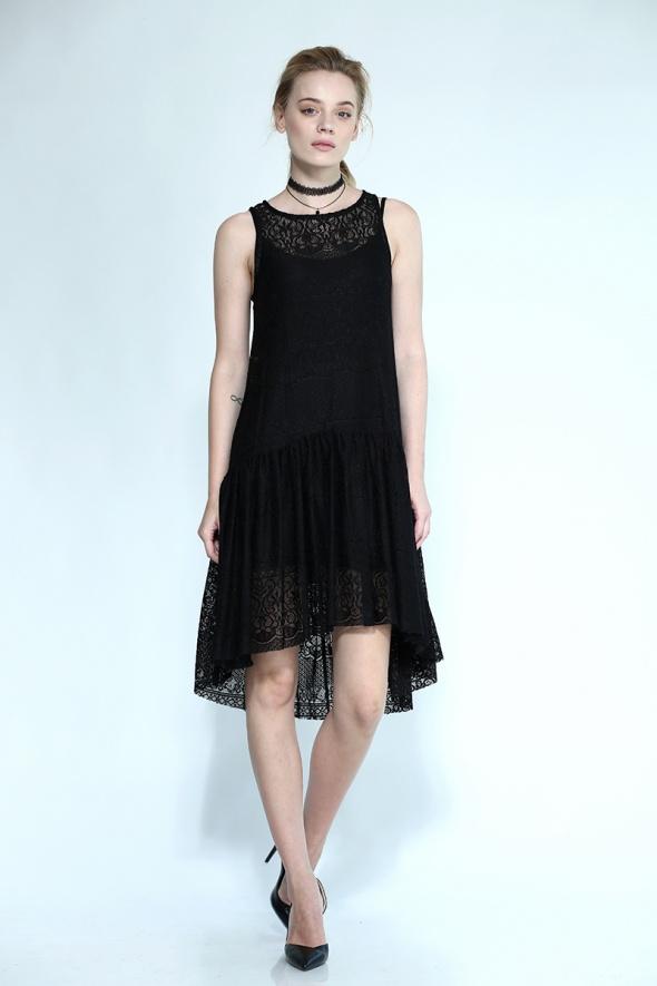 שמלת תחרה HIGH LOW אוברסייז + תחתית