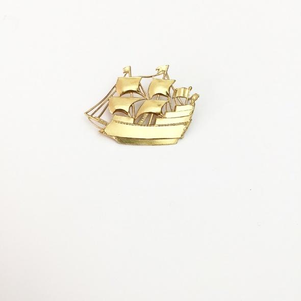 סיכת דש אוניה זהב