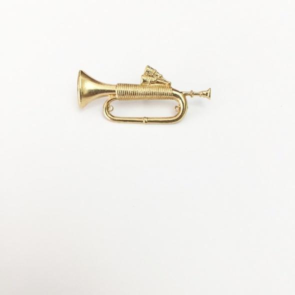 סיכת דש חצוצרה זהב