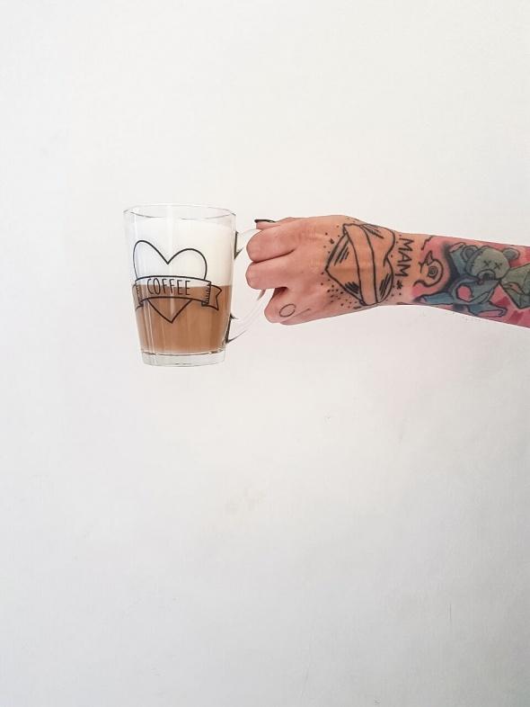 ספל זכוכית coffee love
