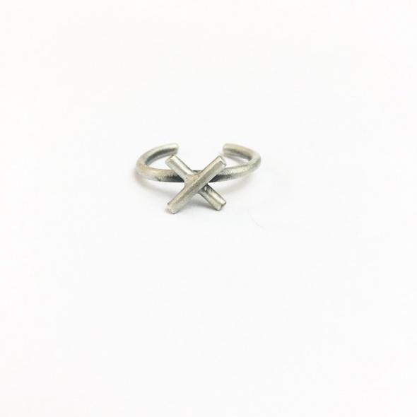 טבעת X כסף