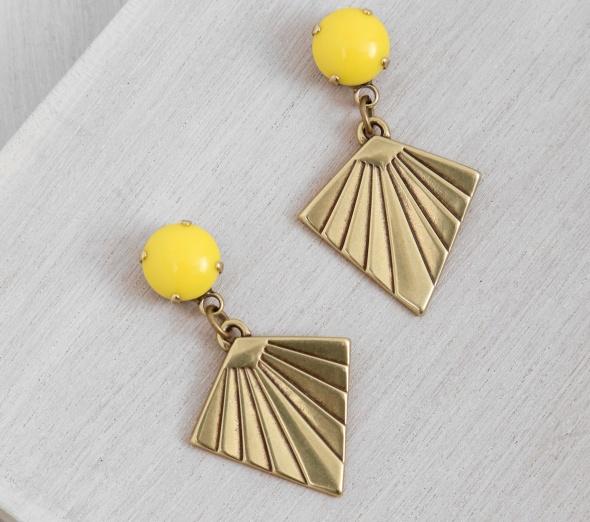 עגיל עפיפון צהוב