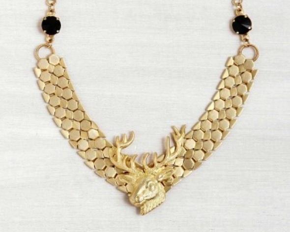 שרשרת ענק צבי זהב