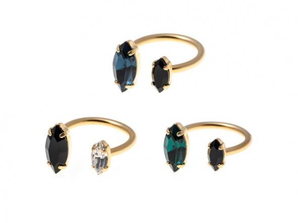 טבעת מרקיזה פתוחה זהב