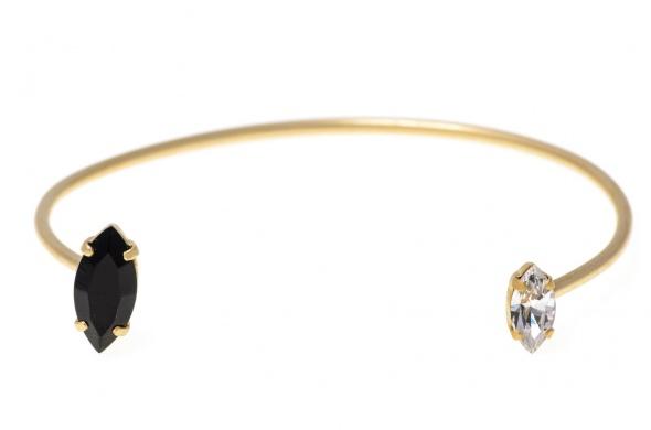 צמיד מרקיזה זהב שחור