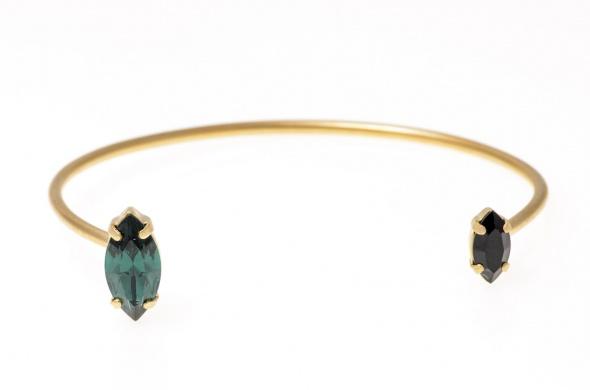 צמיד מרקיזה זהב כחול