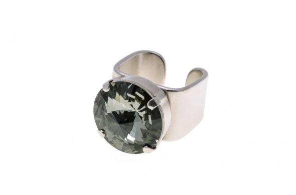 טבעת ריבולי כסף אפור