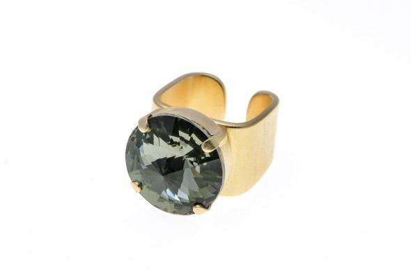 טבעת ריבולי זהב אפור
