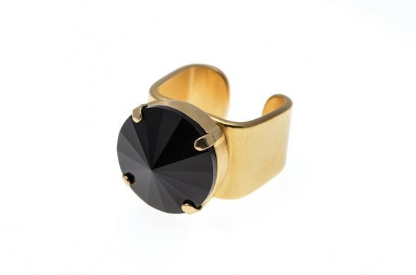טבעת ריבולי זהב שחור