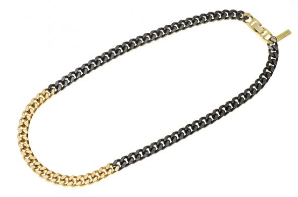 שרשרת גורמט קצרה משולבת זהב