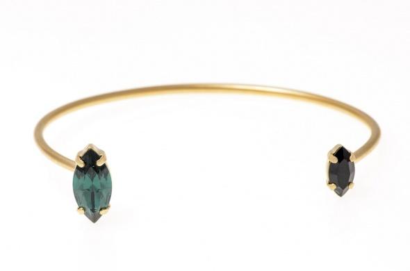 צמיד מרקיזה זהב ירוק
