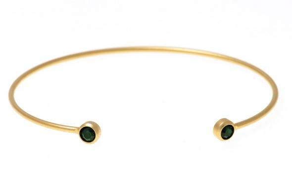 צמיד Happy זהב ירוק