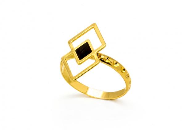 טבעת לני אמייל זהב