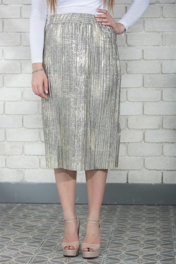 חצאית קרפ זהב