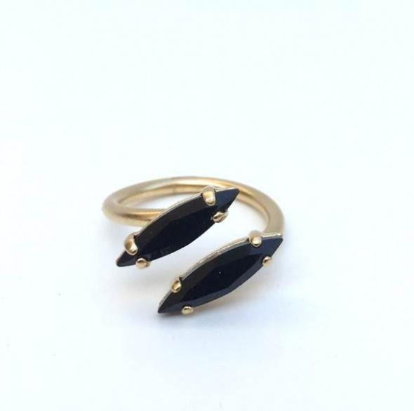 טבעת טיפות זהב