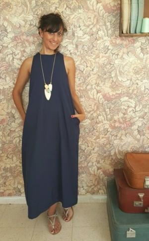 שמלת אום תמר כחולה