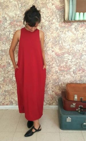 שמלת אום תמר אדומה