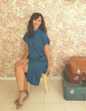 שמלת סאן כחולה