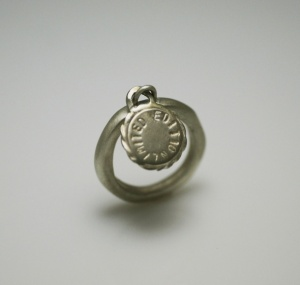 טבעת מטבע כסף