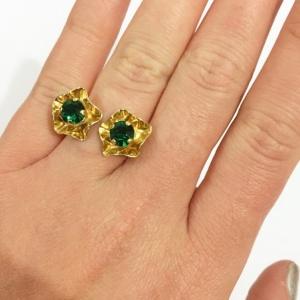 טבעת ויקטוריה זהב ירוק