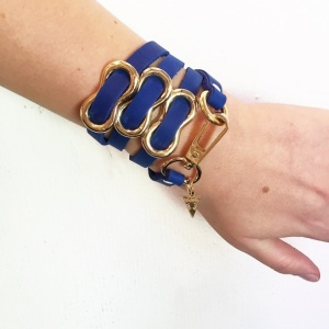 צמיד שמיניות כחול זהב