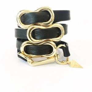 צמיד שמיניות שחור זהב