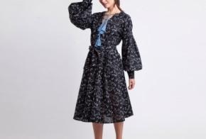 שמלת סופיה הדפס אשוח