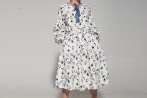 שמלת סופיה הדפס עיניים