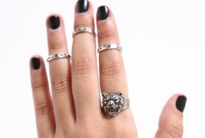 סט טבעת שור ו3 טבעות אמצע