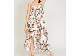 שמלת מנדרין פרחונית