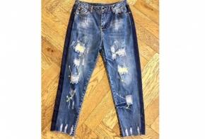 ג'ינס פיינט הדפס צהוב