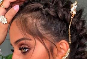 סיכות שיער ניטים משובצים נופלים-זהב